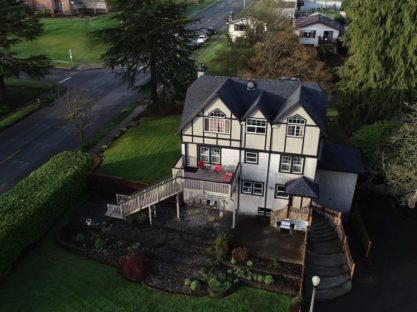 overhead view of maitland manor bed & breakfast in port angeles washington